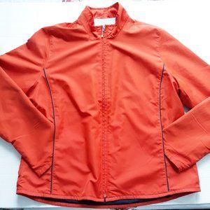 Tommy Hilfiger Golf Orange Full Zip Jacket Sz M